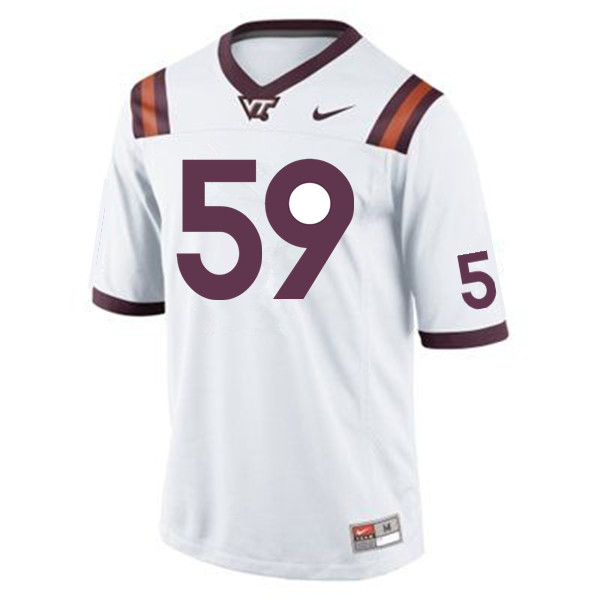 Men #59 J'Bril Glaze Virginia Tech Hokies College Football Jerseys Sale-Maroon